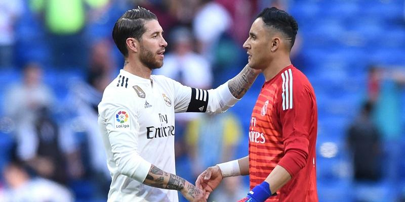 Sergio Ramos Keylor Navas Real Madrid